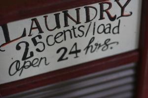 Laundry 25 cents
