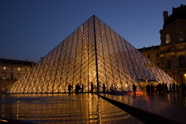 The Louvre art museum in Paris, France