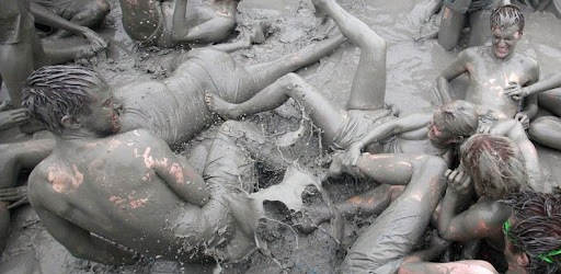 The Boryeong mud festival in Korea