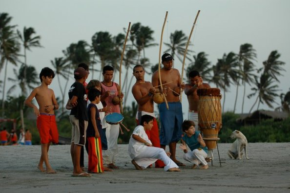 Capoeira on the beach  Jericoacoara, Brazil