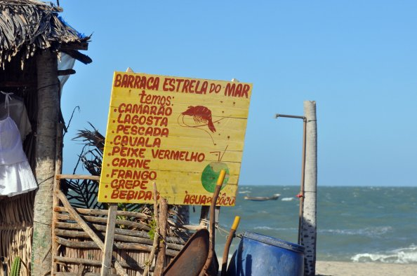 Beachside restaurant in Jericoacoara, Brazil