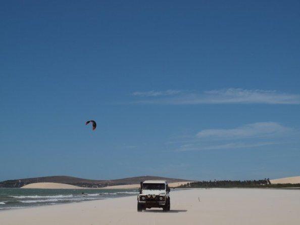 Kitesurfing in  Jericoacoara, Brazil