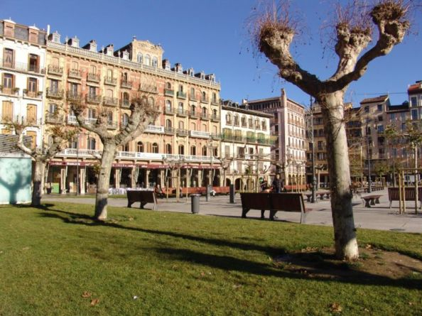 The beautiful Plaza del Castillo in Pamplona