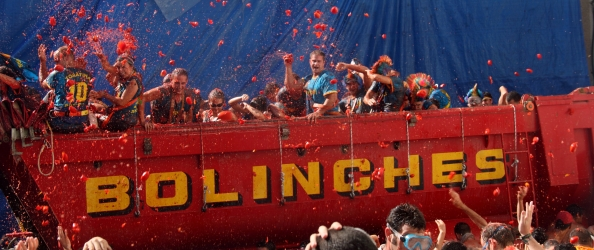 Bizarre festival of La Tomatina, Spain
