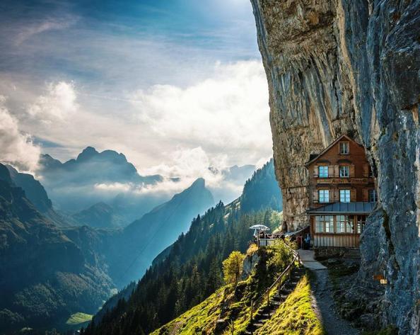 The Ascher Cliff Hotel in Switzerland