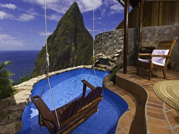 Small pool overlooking the sea