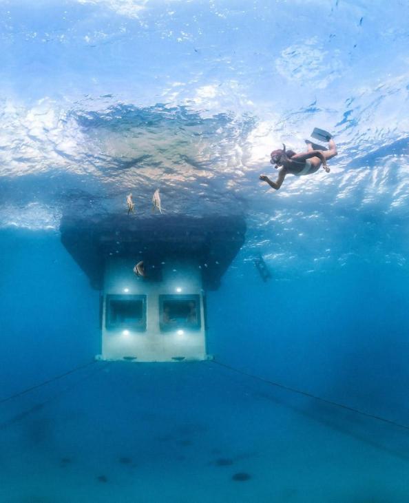 The Manta Resort, Zanzibar has underwater rooms