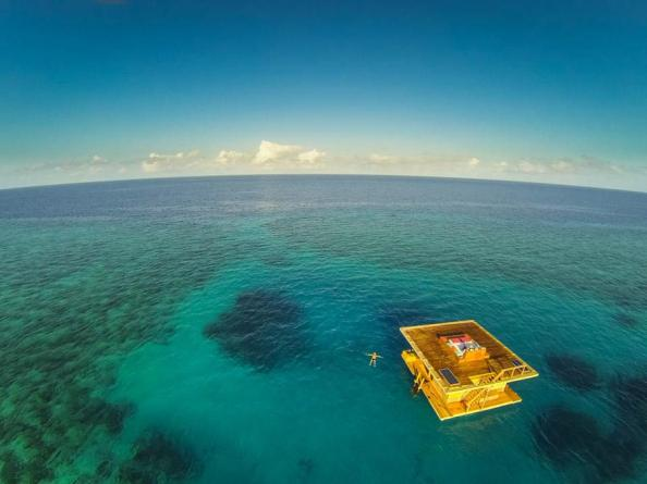 A private cabin in the middle of the ocean