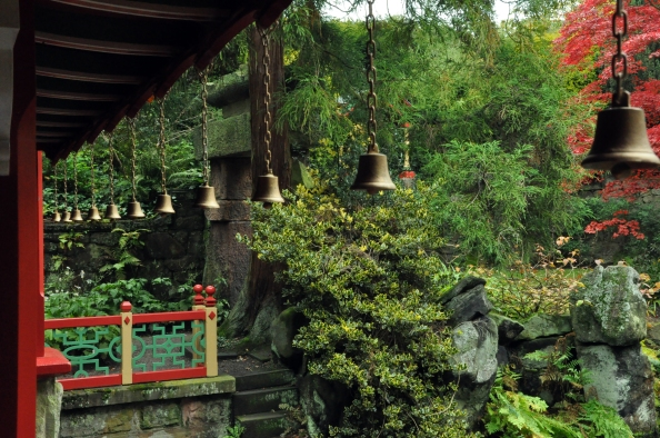 Bells in a garden, China