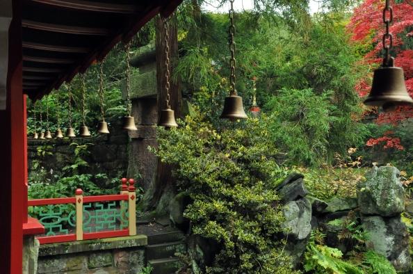 Bells in a garden, China