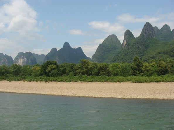A beach in Yangshuo, China